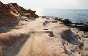 和歌山県南紀白浜の千畳敷の写真素材 [FYI01725817]