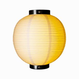 明かりのともった白い提灯の写真素材 [FYI01726516]