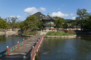 景福宮(キョンボックン)の香遠亭の写真素材 [FYI01727046]