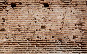 コロッセオの壁 ローマ イタリアの写真素材 [FYI01727098]