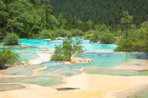 玉翠彩池の石灰プールの写真素材 [FYI01727442]
