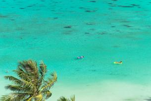 タモン湾のサンゴ礁の海の写真素材 [FYI01727867]
