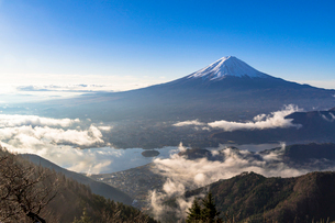 新道峠より朝の富士山の写真素材 [FYI01732072]