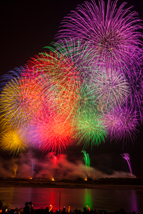 長岡まつりの花火大会の写真素材 [FYI01732968]