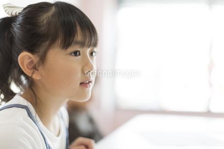 教室で授業を受ける女の子の写真素材 [FYI01733620]