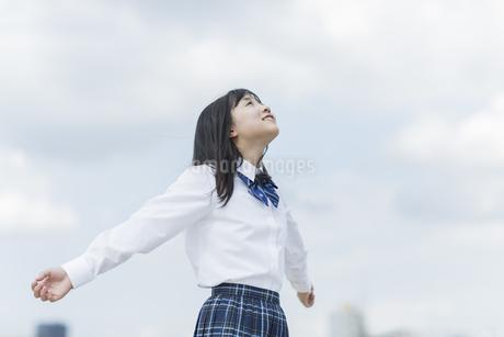 笑顔の女子学生の写真素材 [FYI01733683]