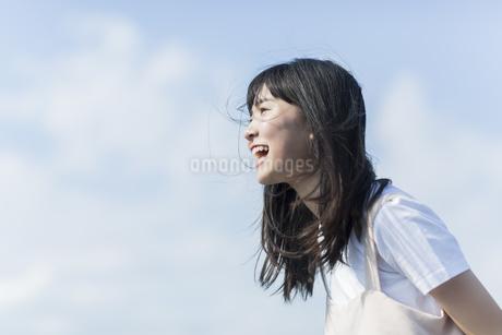 叫ぶ女の子の写真素材 [FYI01733842]