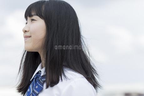 笑顔の女子学生の写真素材 [FYI01733871]
