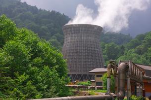 八幡平の松川地熱発電所の写真素材 [FYI01734377]