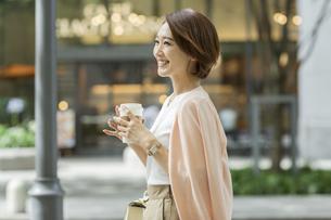 笑顔のビジネスウーマンの写真素材 [FYI01734459]