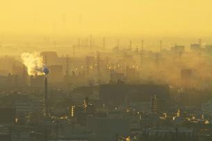 朝の街並みの俯瞰の写真素材 [FYI01734886]