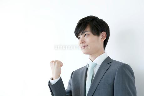 ガッツポーズをするヤングビジネスマンの写真素材 [FYI01735486]