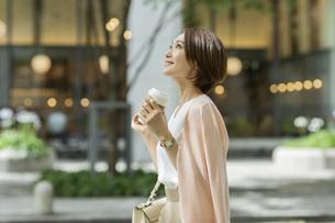 笑顔のビジネスウーマンの写真素材 [FYI01736843]