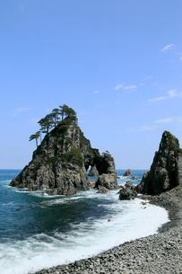 岩手県  久慈市 小袖海岸 つりがね洞の写真素材 [FYI01739351]