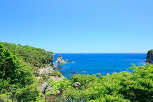 夏の三陸復興国立公園の写真素材 [FYI01739406]