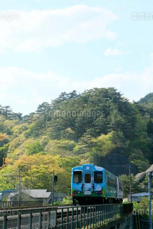 三陸鉄道  田野畑駅付近の北リアス線の写真素材 [FYI01739473]