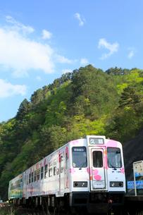 三陸鉄道  田野畑駅付近の北リアス線の写真素材 [FYI01739624]