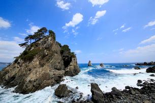 岩手県  久慈市 小袖海岸 つりがね洞の写真素材 [FYI01739728]