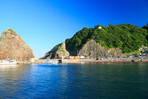 夏の小袖漁港 あまちゃんロケ地の写真素材 [FYI01739817]