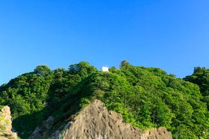 夏の小袖漁港の監視小屋 あまちゃんロケ地の写真素材 [FYI01739856]