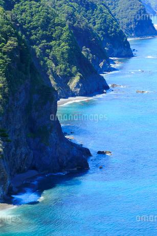 夏の鵜の巣断崖の写真素材 [FYI01740112]