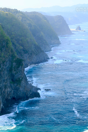 岩手県 震災後の鵜の巣断崖の写真素材 [FYI01740475]