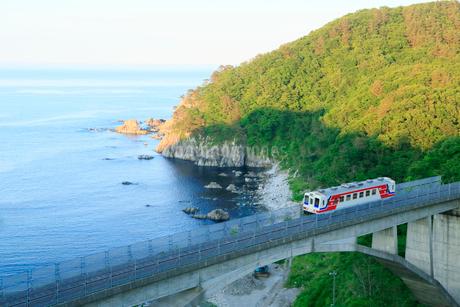 岩手県  震災後の三陸鉄道 北リアス線の写真素材 [FYI01740815]