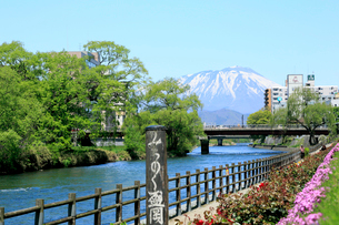 岩手県 北上川と岩手山の写真素材 [FYI01740955]