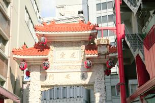 神戸南京町 チャイナタウン 長安門の写真素材 [FYI01741085]