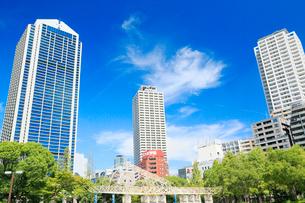 神戸市役所1号館と神戸のビル群の写真素材 [FYI01741182]
