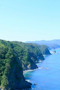 夏の鵜の巣断崖の写真素材 [FYI01741303]