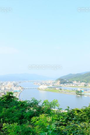 宮城県 日和山公園から望む石巻の街の写真素材 [FYI01741423]