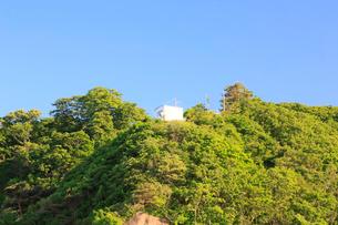 夏の小袖漁港の監視小屋 あまちゃんロケ地の写真素材 [FYI01741454]
