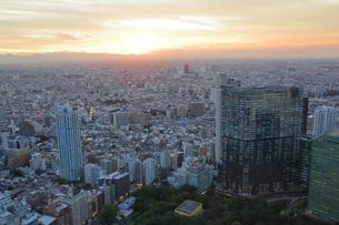 東京都庁展望室から望む東京の街並みの写真素材 [FYI01741961]