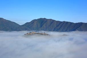 竹田城跡の雲海の写真素材 [FYI01741996]