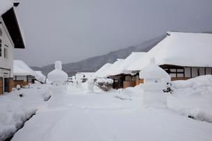 大内宿雪まつりの写真素材 [FYI01742646]