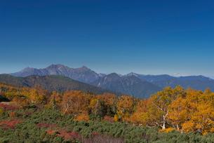 乗鞍岳位ヶ原の紅葉と北アルプスの写真素材 [FYI01742944]