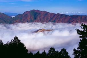 竹田城の雲海の写真素材 [FYI01743152]