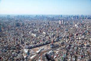 東京スカイツリー建設当初の航空写真の写真素材 [FYI01743591]