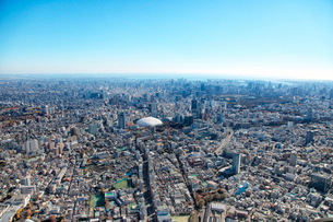 文京区春日周辺から東京ドーム周辺の航空写真の写真素材 [FYI01743602]