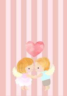 男の子と女の子の天使のイラスト素材 [FYI01743618]