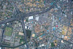 三郷インターA地区土地区画整理の航空写真の写真素材 [FYI01743748]