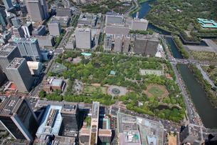 日比谷公園の航空写真の写真素材 [FYI01743758]