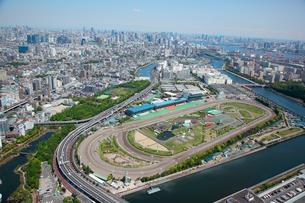 大井競馬場周辺の航空写真の写真素材 [FYI01743803]