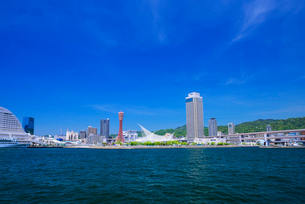 ポートタワーと神戸港の写真素材 [FYI01743901]