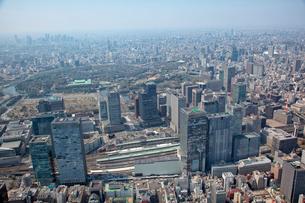東京駅八重洲口周辺から皇居武道館周辺までの航空写真の写真素材 [FYI01744275]
