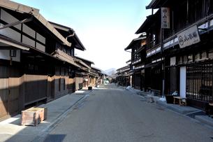 奈良井宿の町並みの写真素材 [FYI01744711]