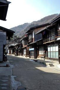 奈良井宿の町並みの写真素材 [FYI01744712]