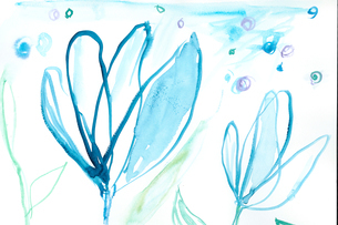 青い花のイラスト素材 [FYI01745418]