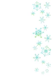 雪の結晶のパターンのイラスト素材 [FYI01746505]